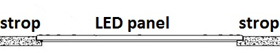 LED panel podhľadový
