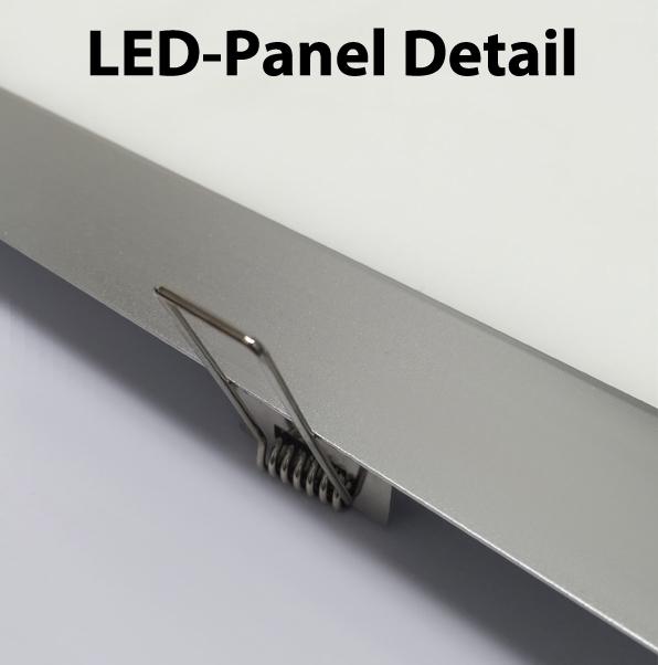 silber led einbaupanel 600 x 1200mm 72w tageslicht 0 10v. Black Bedroom Furniture Sets. Home Design Ideas