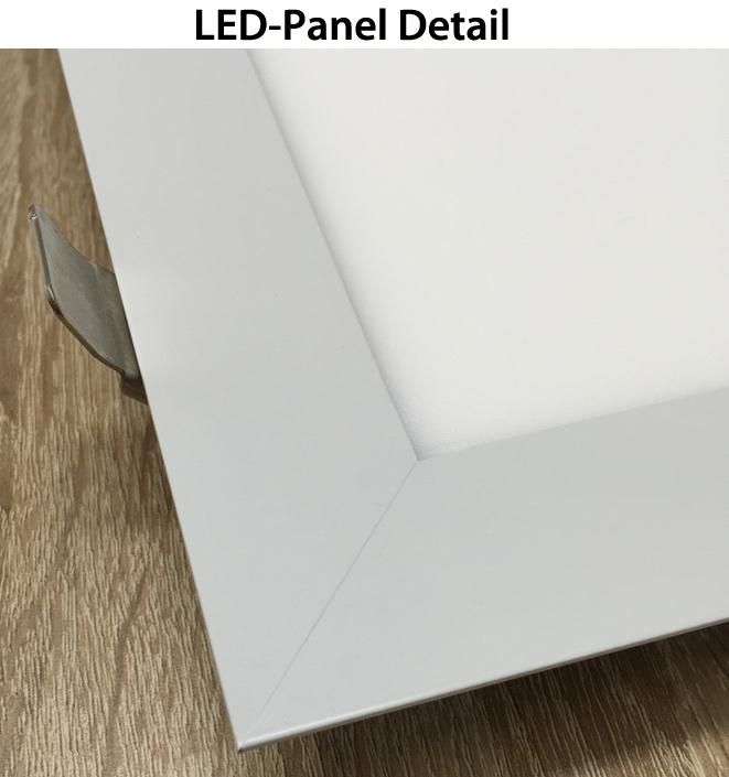 wei es led einbaupanel 600 x 600mm 48w tageslicht gute. Black Bedroom Furniture Sets. Home Design Ideas