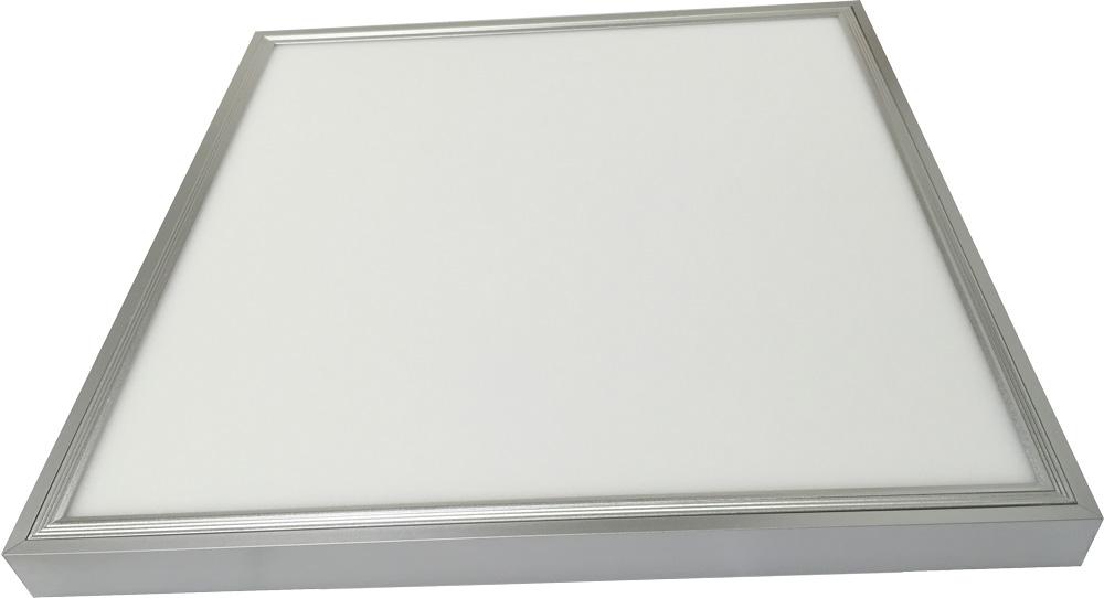 silber led panel mit rahmen 600 x 600mm 36w tageslicht. Black Bedroom Furniture Sets. Home Design Ideas