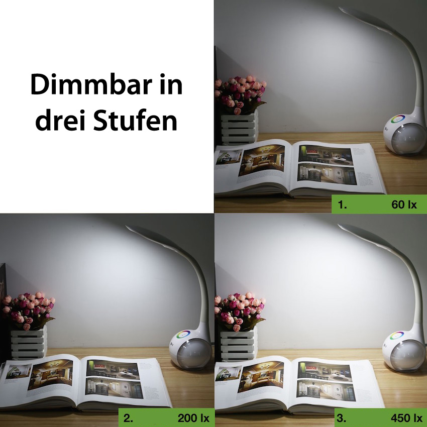 led tischlampe 5w tageslicht gute. Black Bedroom Furniture Sets. Home Design Ideas