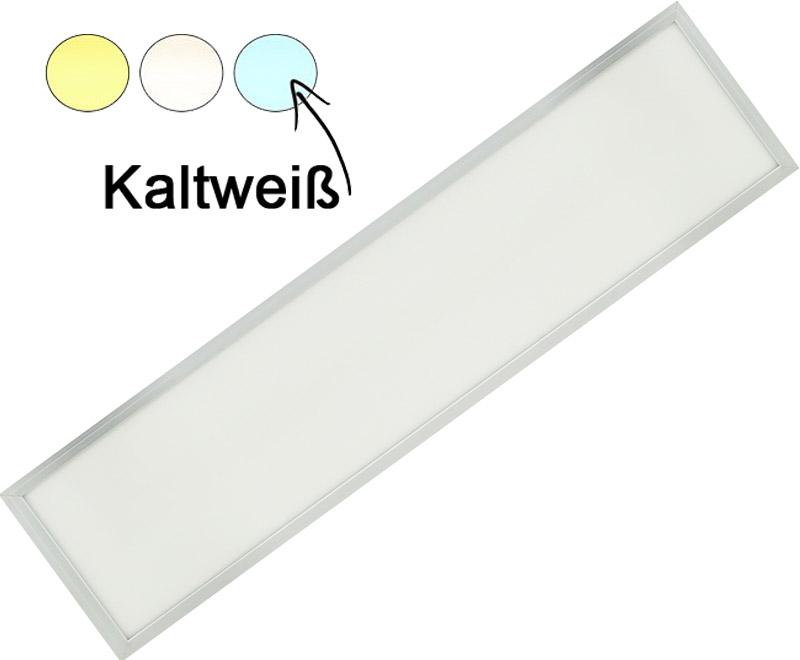Silber LED Hängepanel 300 x 1200mm 36W Kaltweiß