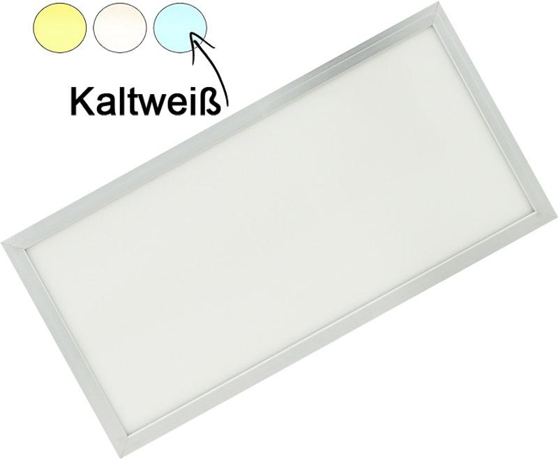 Silber LED Deckenpanel 300 x 600mm 30W Kaltweiß