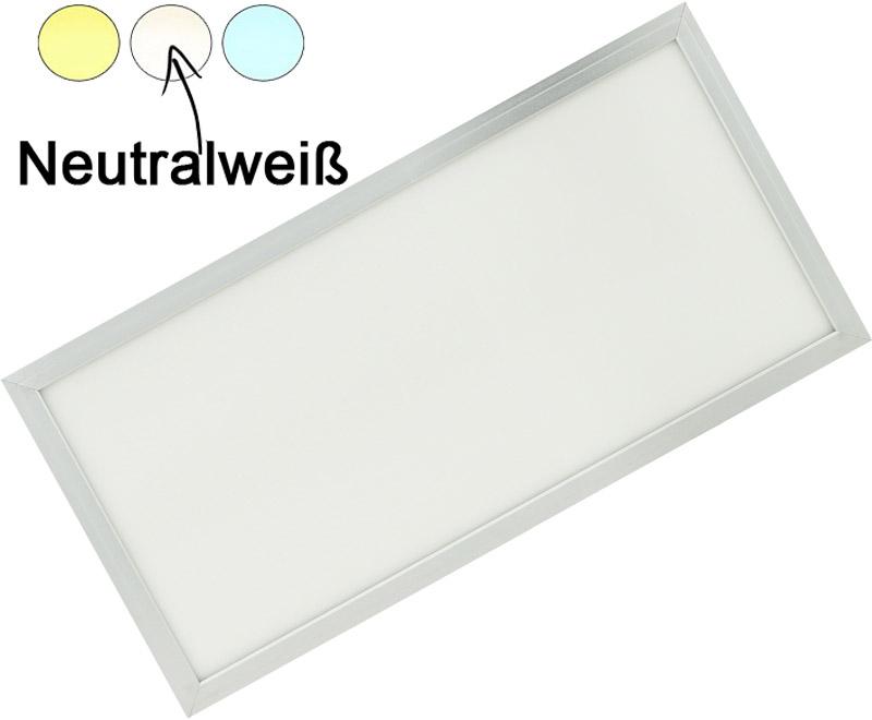 Silber LED Hängepanel 300 x 600mm 30W Tageslicht