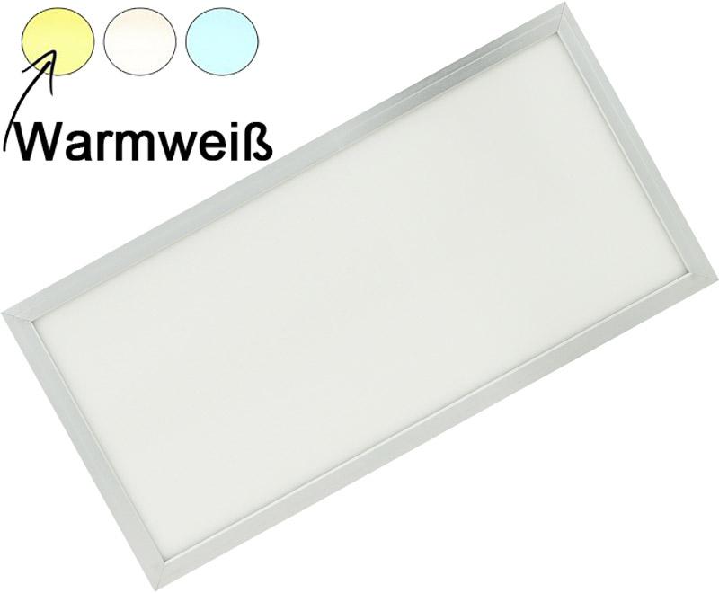 Silber LED Deckenpanel 300 x 600mm 30W Warmweiß