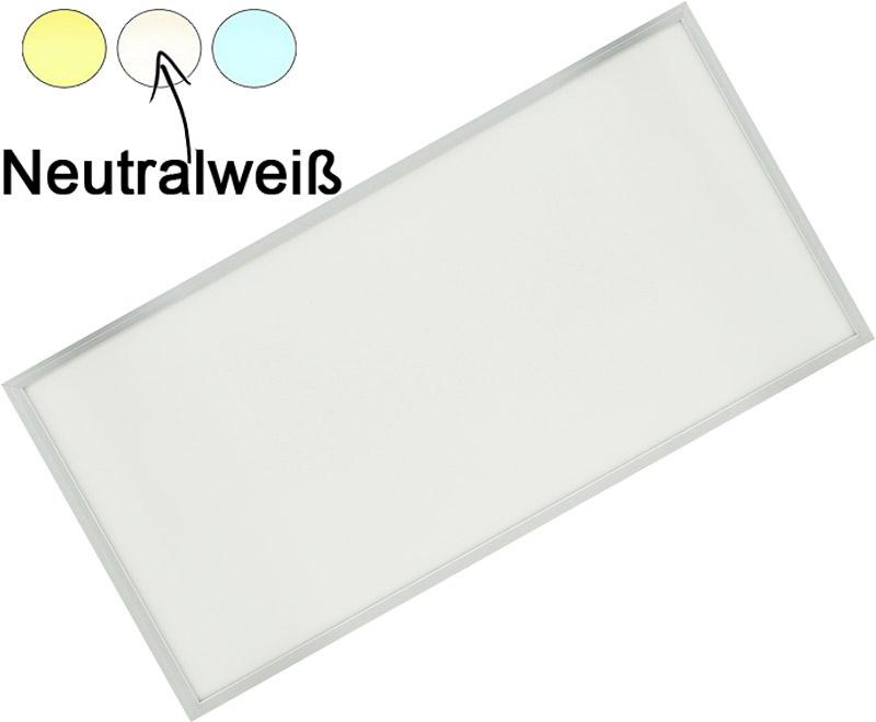 Silber LED Hängepanel 600 x 1200mm 72W Tageslicht