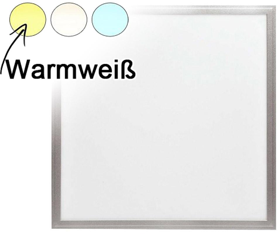 Silber LED Deckenpanel 600 x 600mm 48W Warmweiß