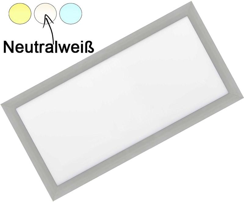 Silber LED Einbaupanel 300 x 600mm 30W Tageslicht