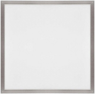 Silber LED Deckenpanel 600 x 600mm 36W Kaltweiß