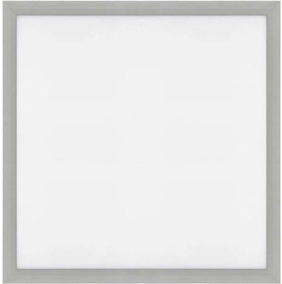 Silber LED Einbaupanel 600 x 600mm 36W Warmweiß