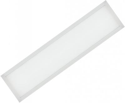 Weißes LED Einbaupanel 300 x 1200mm 48W Warmweiß