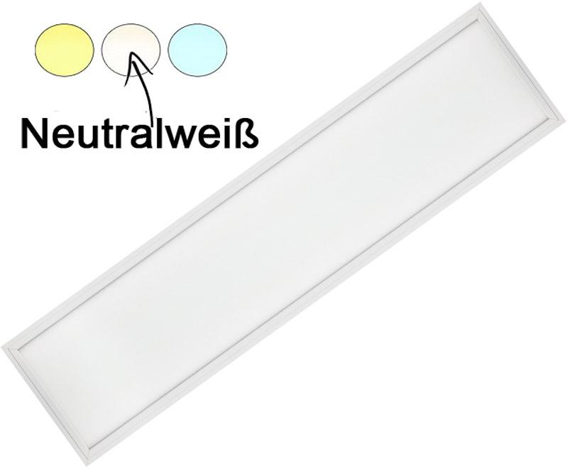 Weißes LED Hängepanel 300 x 1200mm 36W Tageslicht