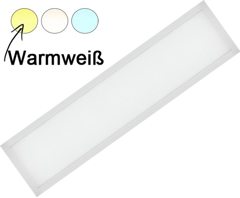 Weißes LED Einbaupanel 300 x 1200mm 36W Warmweiß