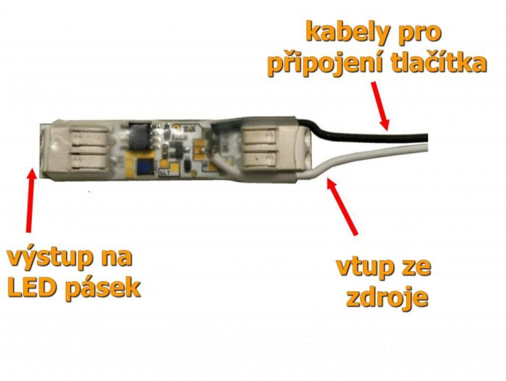 T-LED Modul pro tlačítko - stmívač pro LED pásky