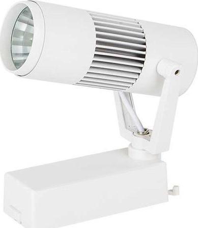 Weißer 1-Phase LED Schienenstrahler 10W Warmweiß