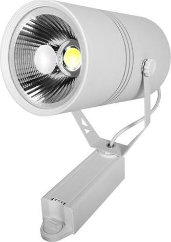 Weißer 1-Phase LED Schienenstrahler 30W Warmweiß