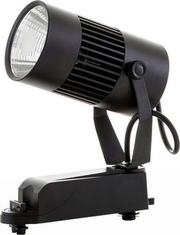Schwarzer 1-Phasen schiene LED Strahler 20W Warmweiß