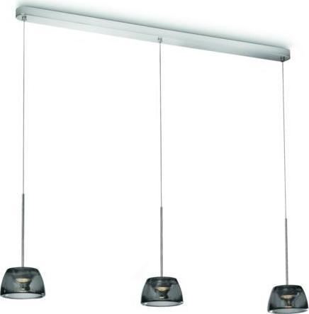 Philips LED Kristall Pendelleuchte Clario 3x6W - 40726/11/16
