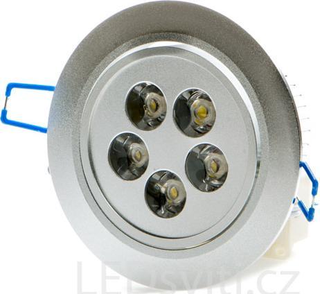 LED Einbaustrahler 5x 1W Tageslicht