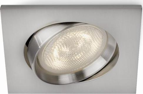 Philips LED Einbaustrahler Galileo Nickel 1x3W - 59081/17/16