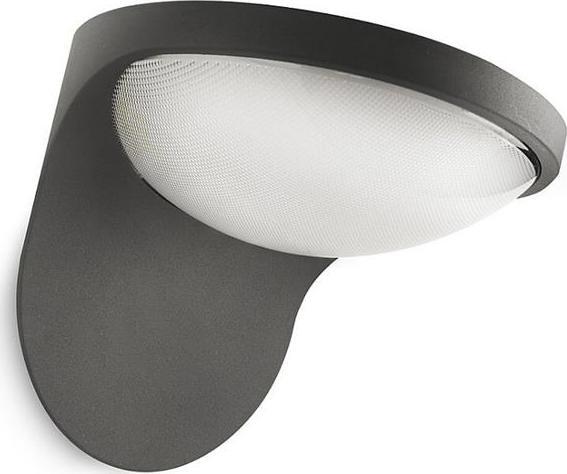 Dusk Außenwandleuchte mit Sensor schwarz-anthrazit 1x1.5W - 17808/93/16