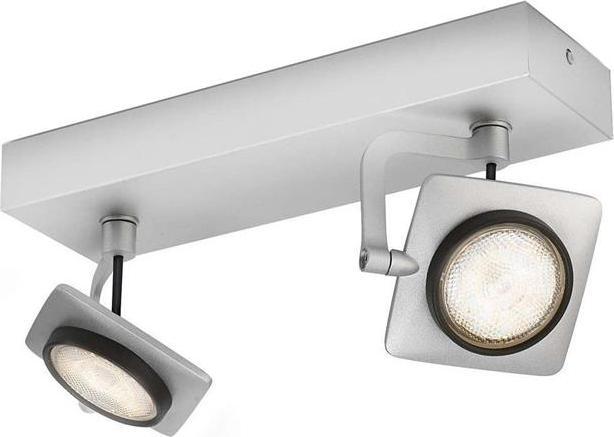 Philips LED Spotleuchte Millenium Aluminium 2x4W - 53192/48/16