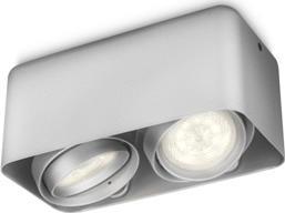 Philips LED Spotleuchte Afzelia Aluminium 2x3W - 53202/48/16