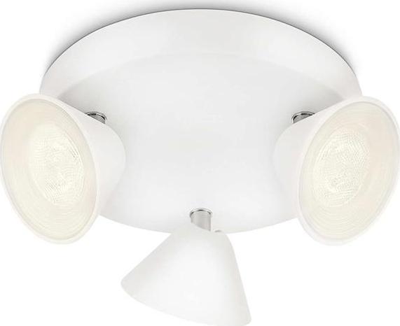 Philips LED Spotleuchte Tweed weiß 3x3W - 53289/31/16