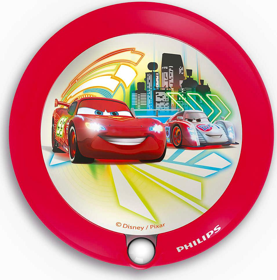 PHILIPS LED luster detský nástenný Dis night light cars - 71765/32/16