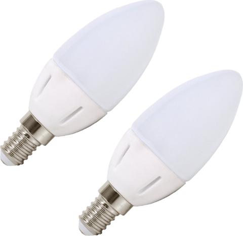 LED Lampe E14 4W Kerze Tageslicht, 2 St.