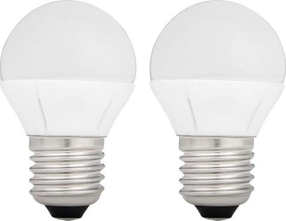 LED Lampe E27 4W Kolben Tageslicht, 2 St.