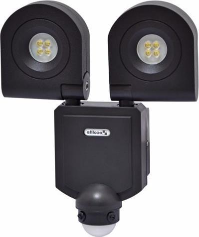 Schwarz LED Fluter mit Bewegungsmelder 2x10W Kaltweiß