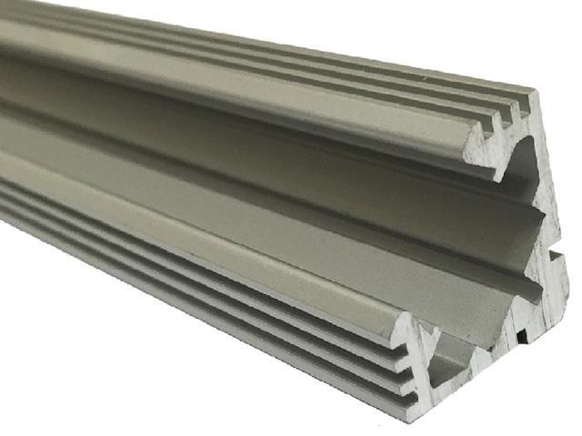Eckiger Profil aluminium eloxiert siberner, 1m