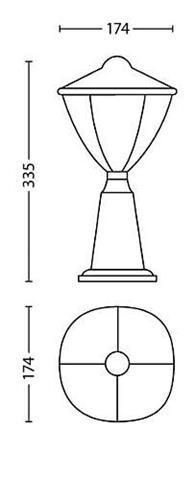 Philips Robin LED Außenstehlampe klein schwarz 1x4.5W - 15472/30/16