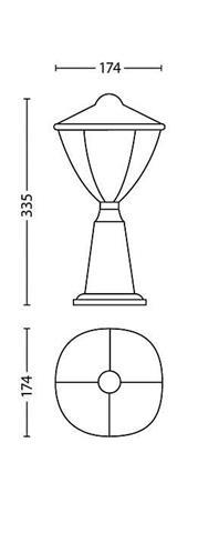 Philips Robin LED Außenstehlampe klein weiß 1x4.5W - 15472/31/16