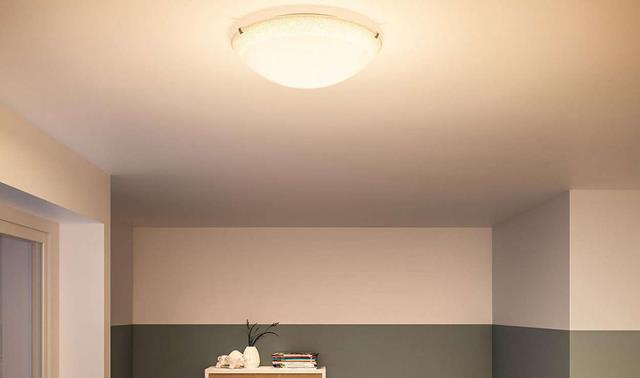 philips led deckenleuchte braun gro 31141 44 16 gute. Black Bedroom Furniture Sets. Home Design Ideas