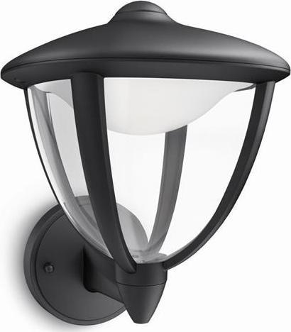 Philips LED robin lampe außen wand schwarze 4,5w 15470/30/16