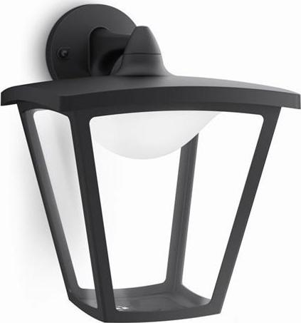 Philips LED cottage außen lampe wand schwarze 4,5w 15481/30/16