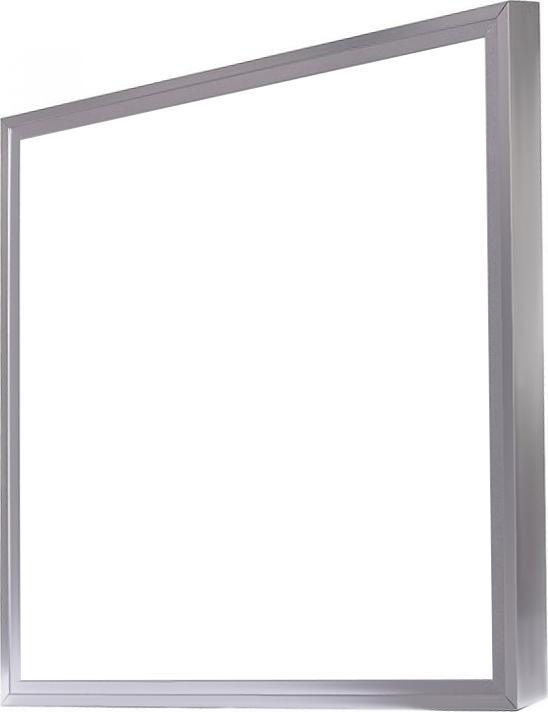 Silber LED Panel mit Rahmen 600 x 600mm 36W Kaltweiß