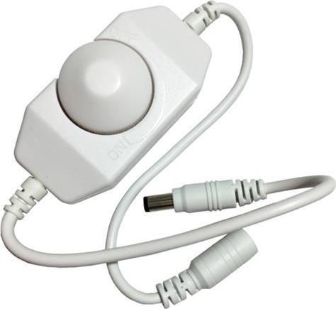 LED dimmer ECO-MAN manuell - weisser 12V 8A (96 Wattů)