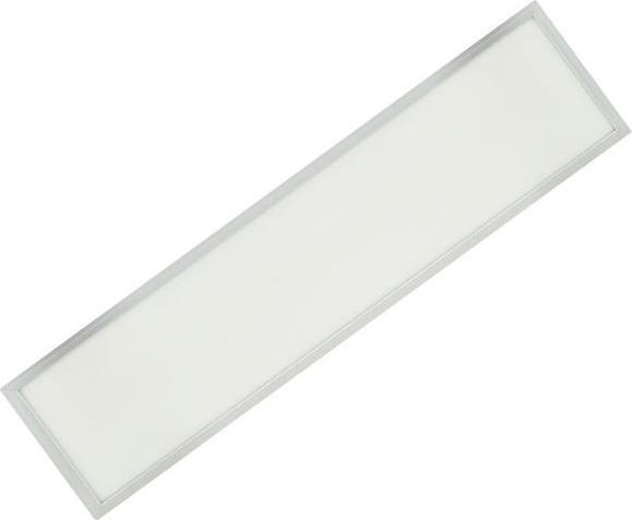 Silber LED Panel mit Rahmen 300 x 1200mm 48W Kaltweiß (0-10V)