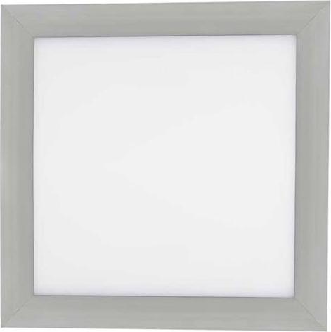 Strieborný zabudovateľný LED panel 300 x 300mm 18W teplá biela (0-10V)