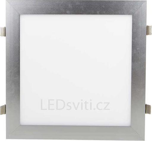 Silber LED Einbaupanel 300 x 300mm 18W Warmweiß (0-10V)