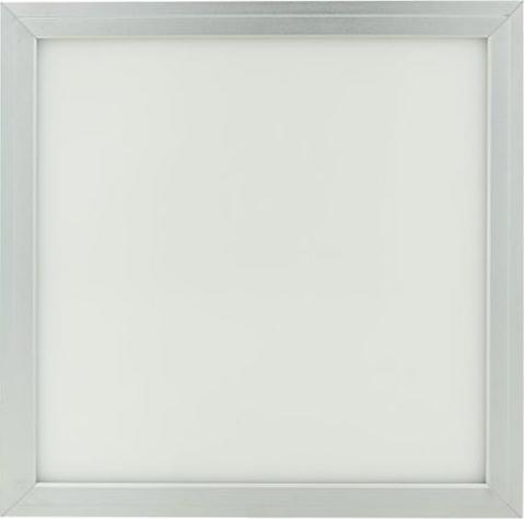 Strieborný závesný LED panel 300 x 300mm 18W teplá biela (0-10V)