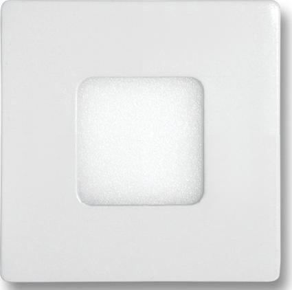 Biely zabudovateľný LED panel 90 x 90mm 3W studená biela