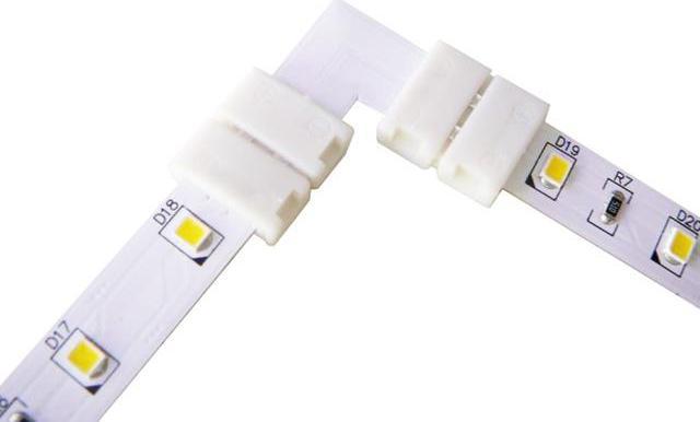 Eck-Verbindungsstück für einfarbigen LED Streifen 8mm