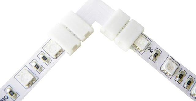 Eckige verbindungsstückfür RGB LED streifen 10mm