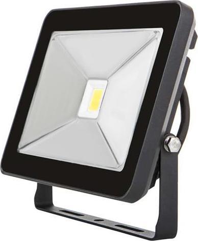 Schwarzer LED Strahler 50W SLIM Tageslicht
