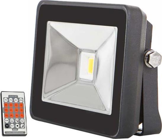 Schwarz LED Fluter mit Bewegungsmelder 10W SLIM Tageslicht
