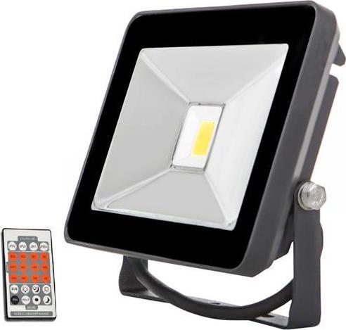Schwarz LED Fluter mit Bewegungsmelder 20W SLIM Tageslicht